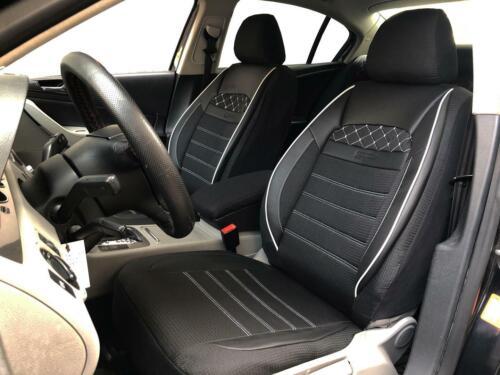 Fundas para asientos ya referencias para opel corsa negra-blanca v2224575 delanteros