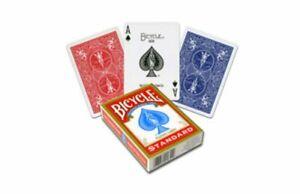 2-Decks-1-x-rot-1-x-blau-Standard-Bicycle-808-Rider-Back-Spielkarten-Poker