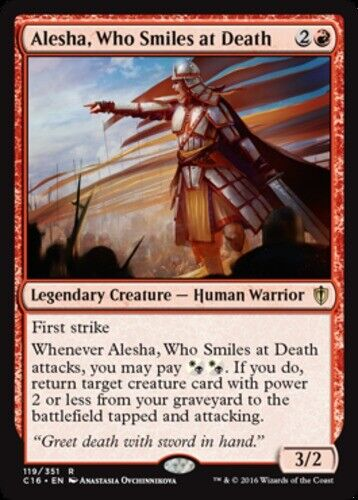 x1 Alesha, Who Smiles at Death MTG Commander 2016 R M/NM, English