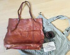 Charm London  Damen Tasche Shopper dunkelbraun braun weiches Leder  federleicht