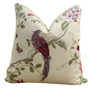 Laura-Ashley-Summer-Palace-Cranberry-Fabric-18-034-x-18-034-45cmx45cm-Cushion-Cover