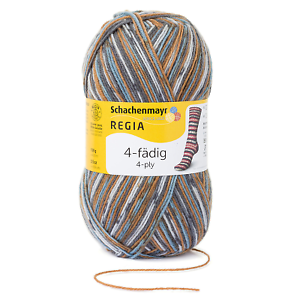 REGIA 4-fädig  color 100g Sockenwolle Farbe Snowflake 07710 eiszapfen