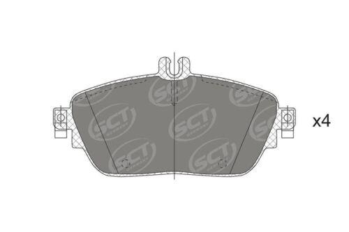 W246 W176 B la CIA Plaquettes frein avant pour Mercedes-Benz A C117 X156 GLA
