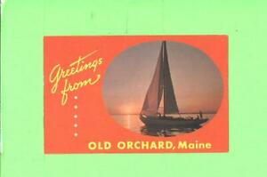 F-POSTCARD-GREETINGS-FRPM-OLD-ORCHARD-MAINE-SAILING-BOAT-POST-CARD