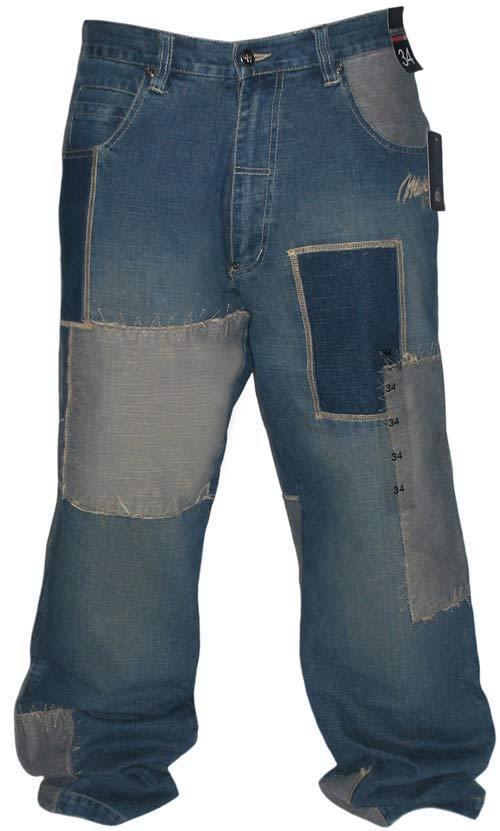 0dc37e9f MAJAH FLAVAH JEANS HOSE HIP HOP ERA BAGGY RAW STITCH blueE W30 NEW RARE NEU  nnosqd1592-Jeans