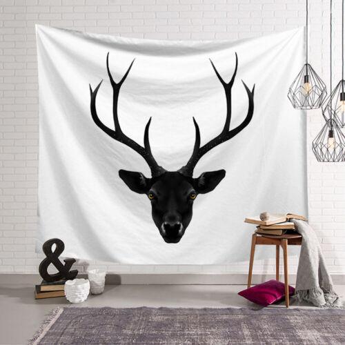 Schwarzer Hirsch Wandbehang Wandbehang für Wohnzimmer Schlafzimmer 95x73cm GE