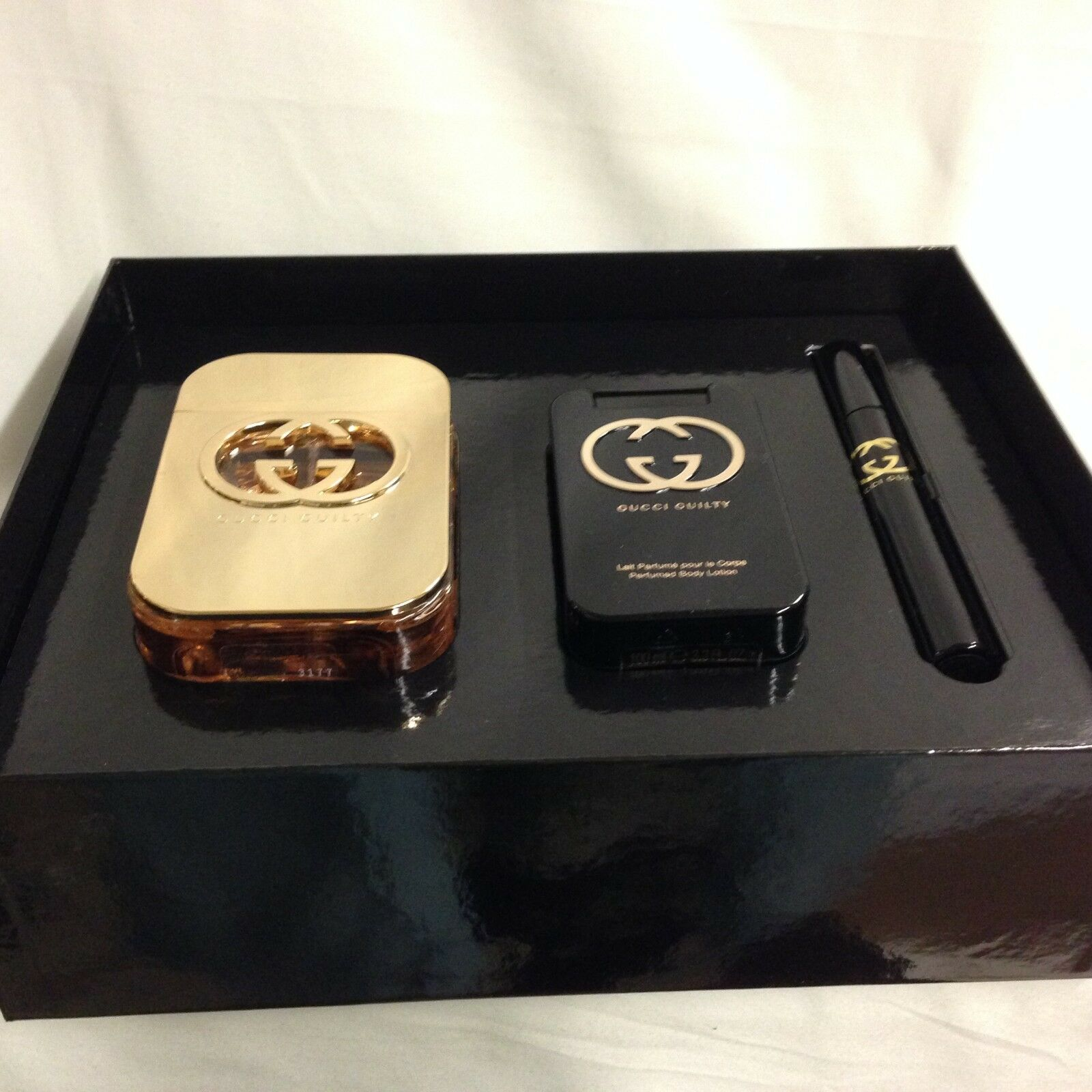 278a986bbc Details about GUCCI GUILTY By GUCCI Perfume For WOMEN 3PC GIFT SET 2.5 +  LOTION + MINI @ SALE!