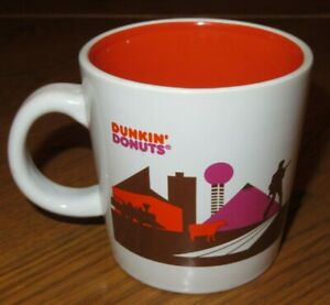 DUNKIN DONUTS White/Orange TENNESSEE RUNS ON DUNKIN Elvis COFFEE CUP Mug 2013
