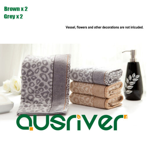4×Brand New 100/% Pure Cotton Soft absorbent Thick Spotty Hand Face Bath Towel