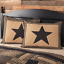 BLACK-CHECK-STAR-QUILT-SET-amp-ACCESSORIES-CHOOSE-SIZE-amp-ACCESSORIES-VHC-BRANDS thumbnail 2