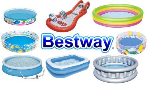 Bestway Piscine Plage Fun looking Piscines pour toute la famille Diverses Tailles Couleurs