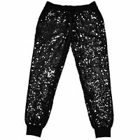 Victoria's Secret Pink Collegiate Sweatpants Bling All Over Sequin Limited S