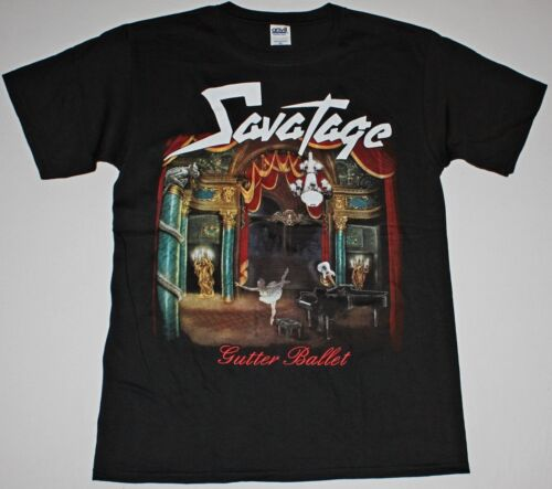 SAVATAGE GUTTER BALLET BLACK T SHIRT JON OLIVA HEAVY PROGRESSIVE METAL RAGE
