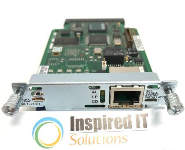 VWIC 2-1MFT-T1/E1 - Cisco 1-Port T1/E1 Multiflex Trunk Voice/Wide Area Network Interface Card