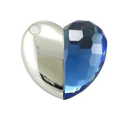Gioielli Usb Chiavetta Memoria Stick Cuore Heart Corazon Blu 16 Gb-