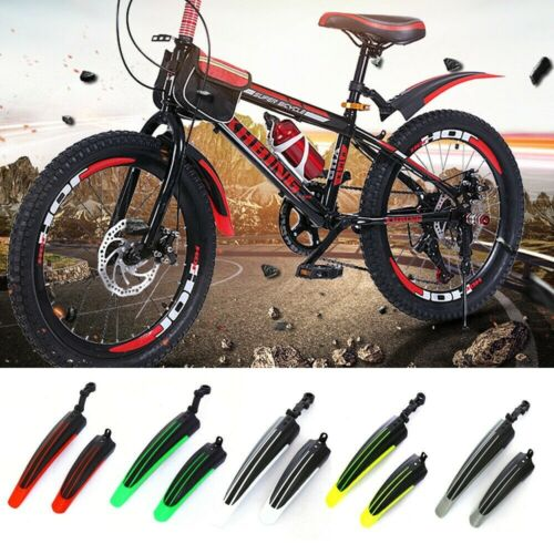 1Pair Mountain Bicycle Bike Anti Mud Bicycle Tire Fenders Front Rear Mud Guards