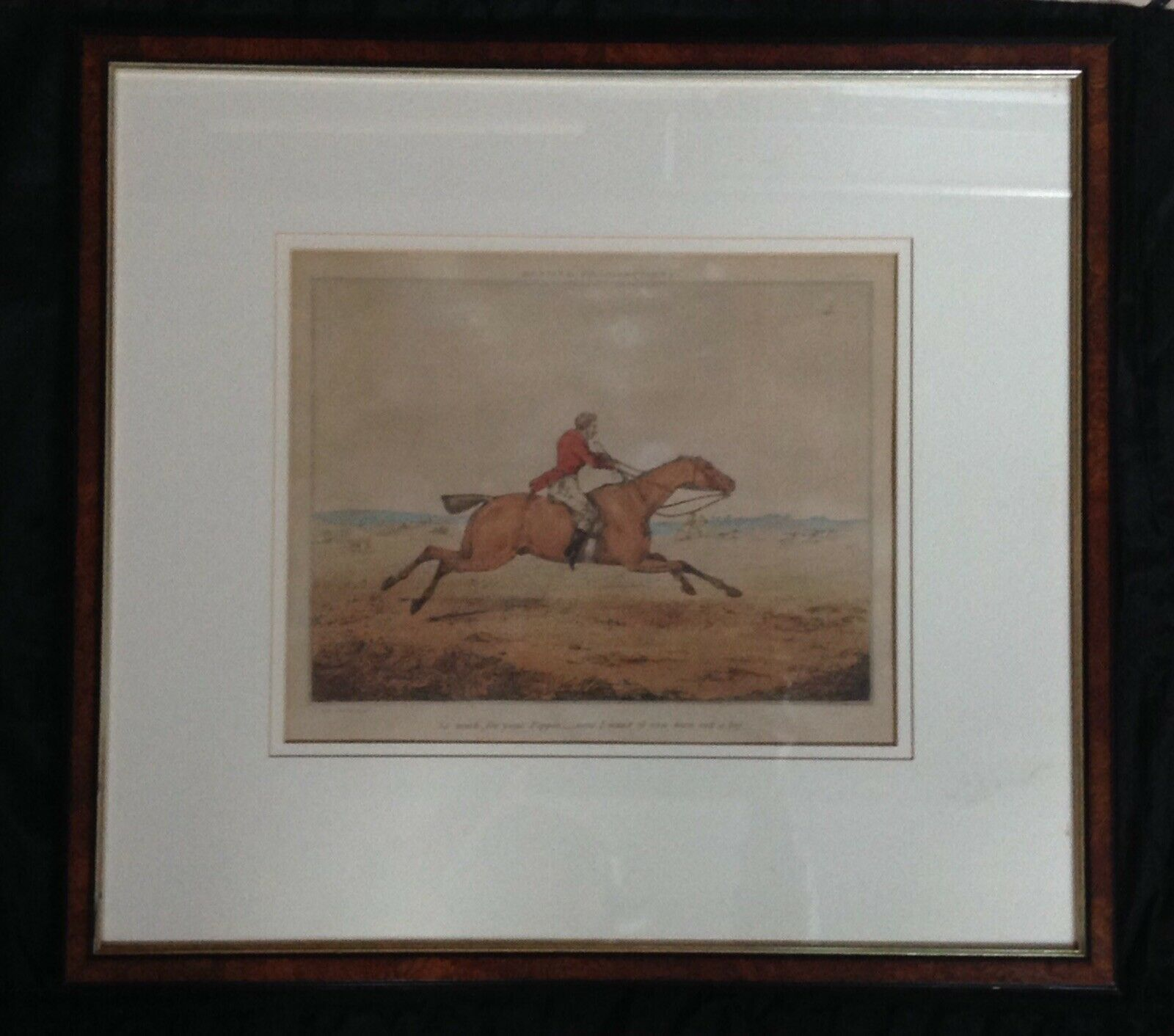 C1800 Original  Hand Colour Aquatint Engraving By H. Alken Hunting Recollections  new style