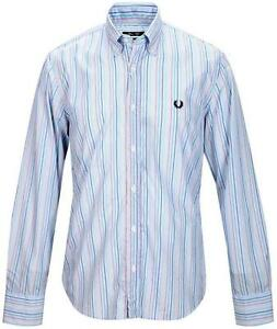 rivenditore online 2d93e 7d930 Details about Camicia Uomo Maniche Lunghe Fred Perry Collo B.D. Slim Fit  Shirt Long Sleeves 30