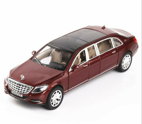 Details about  /1:24 Diecast Car Model Toy Mercedes Maybach S600 Limousine New in Box Black Gift
