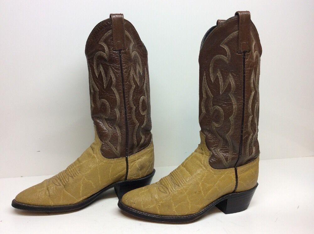 MENS DAN POST COWBOY DARK IVORY Stiefel Größe 7 D