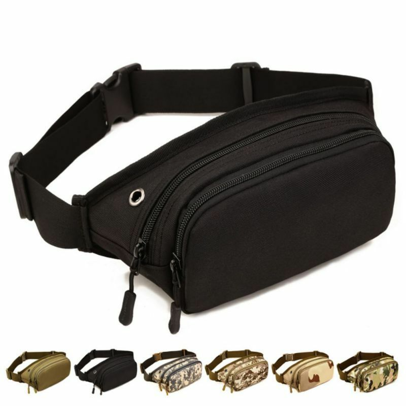 Men Tactical Military Sports Waist Bum Fanny Pack Travel Hiking Runnin... - s l1600