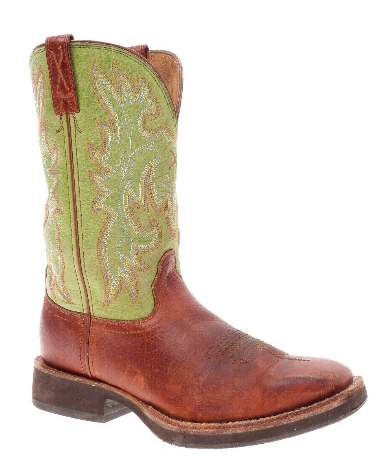 Dedo del pie cuadrado Vintage Men 'Crepe Suela botas TWISTED X botas de vaquero occidental B