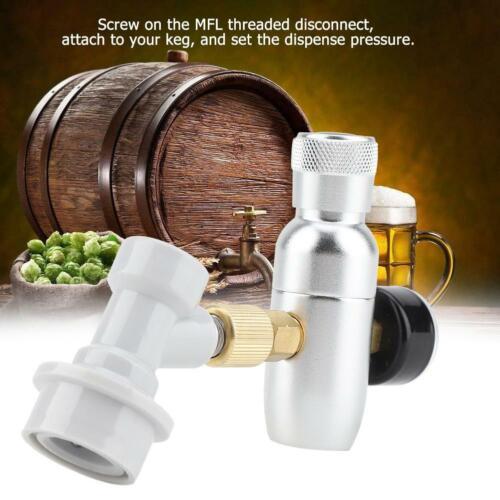 Homebrew CO2 16g Regulator Charger Kit Gas Disconnect Beer Kegerator 60//150PSI