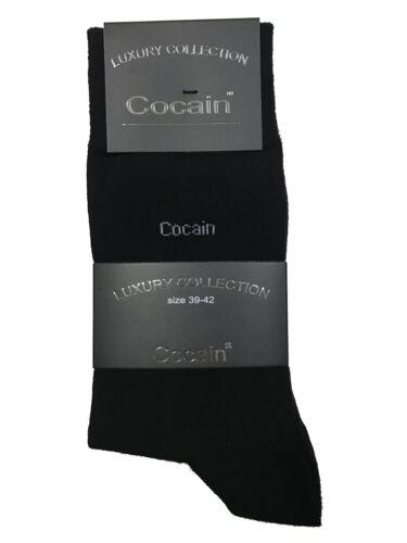 NERO Mis 9 paia calze da uomo neri COT 35 a 50 Luxury Collection cocain