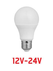 LAMPADINA LED BASSA TENSIONE 12 O 24 V A GOCCIA LUCE CALDA 800 LM LUMEN 3000K