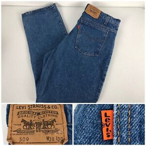fb98f98b Levis 509 Orange Tab Mens 38 X 30 Jeans Made USA 100% Cotton Vintage ...