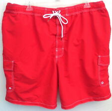 3XL/3X Cargo Swim Trunks/Surf Shorts-Pomodoro/Red-The Foundry Supply Co.-NWT