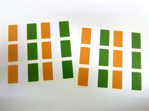 Mini Sticker Pack Self-Adhesive Ivory Coast Flag Labels FR107