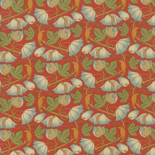 Moda Tela Voysey 2018 rojizo Perching aves 1900 Rojo-por 1//4 Metro