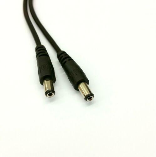 Single 2.1mm input//Twin 2.1mm outputs Black Inline Rocker Switch LED Strip