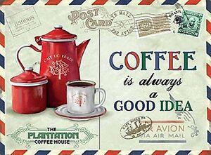 caffe-BUONA-IDEA-Cartolina-Piccolo-INSEGNA-acciaio-200mm-x-150mm-OG