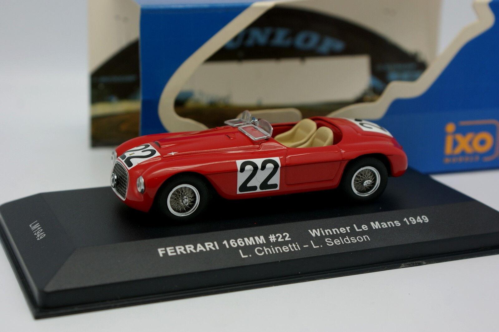 Ixo 1 43 - Ferrari 166 MM No.22 Winner Le Mans 1949