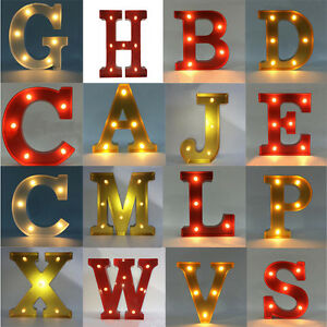 light up letters sign plastic led 12 quot marquee letter lights vintage circus type 17487 | s l300