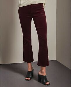 New-AG-Adriano-Goldschmied-The-Jodi-Crop-High-Rise-Slim-Flare-Size-31-MSRP-198