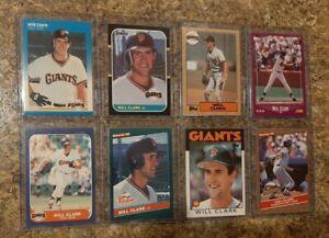 8-Will-Clark-1986-1987-Fleer-Donruss-Topps-Rookie-Card-Lot-RC-1988-Score-Giants