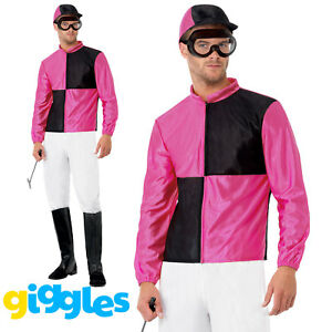 Mens-Jockey-Costume-Horse-Riding-Rider-Grand-National-Fancy-Dress-Party-Outfit