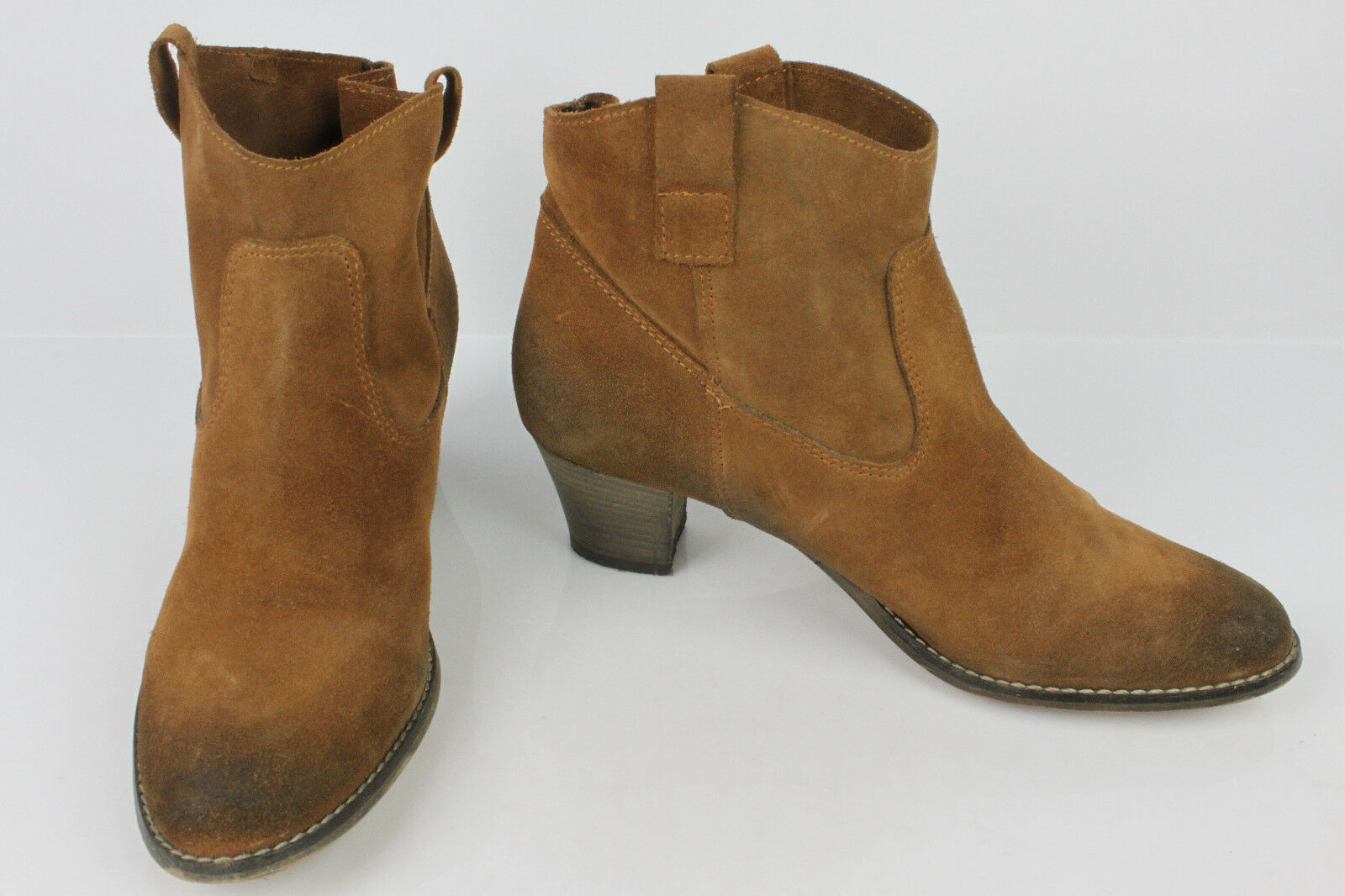 Bottines GALERIES LAFAYETTE Paris Daim brown T 41 TBE