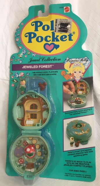 RARE NRFC Polly Pocket Vintage Bluebird 1992 Jeweled Forest Complete Mattel  9262