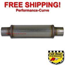 "Performance Muffler MAX FLOW Stainless Steel 2.5"" - 4"" Round - 14"" Body JXS0416"