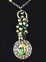 Spring Street Necklace Silver Necklace Abalone Design Crystal Nordstrom R10x