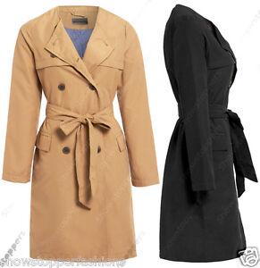 Talla 8 10 12 14 16 mujer lona MAC mujer abrigo chaqueta impermeable Camel  Negro 66e1730c4632