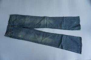 DR-DENIM-Damen-stretch-Bootcut-Jeans-Hose-Flare-Schlag-W26-L34-used-blau-NEU-32