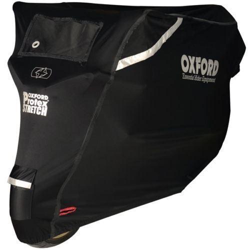 PIAGGIO VESPA PX125 Oxford Aquatex Waterproof Motorbike Silver Black Bike Cover