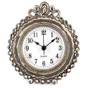 Antique-Gray-Round-Decorative-Table-Clock-Gorgeous-Home-Decor-New