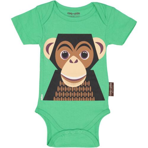 Coq En Páte Organic Chimpanzee Short Sleeve Bodysuit 3-6 Months
