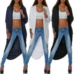 Damen-Cardigan-Strickjacke-Strick-Mantel-Weste-Bolero-Longshirt-Bluse-Pullover